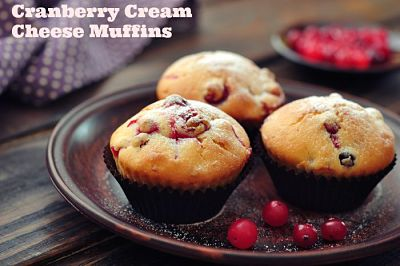 Cranberry Cream Cheese Muffins