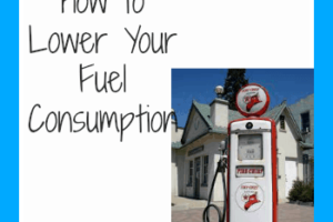 How to Lower Your fuel consumption