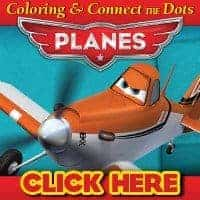 Planes Coloring Sheet