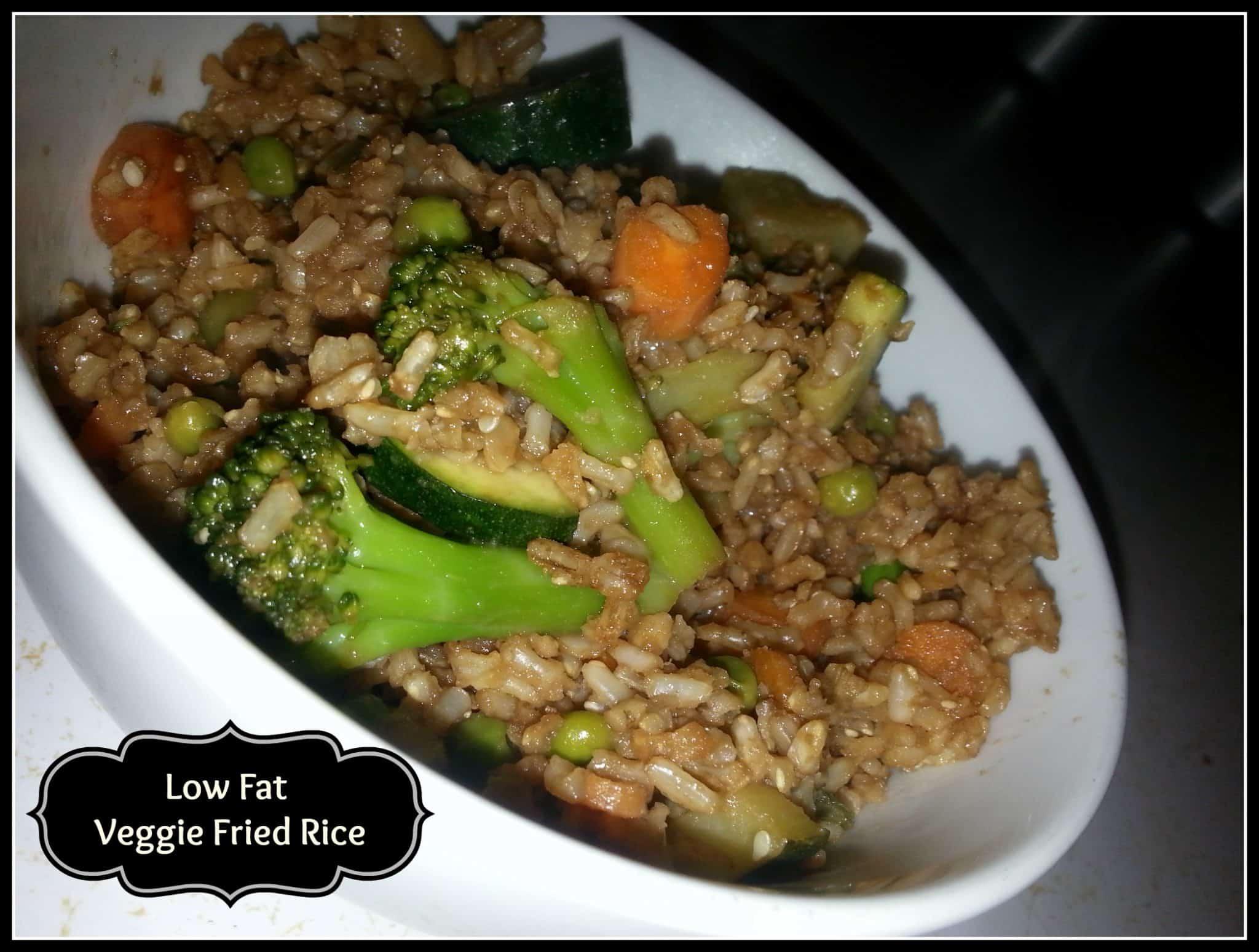 Low Fat Veggie Fried Rice