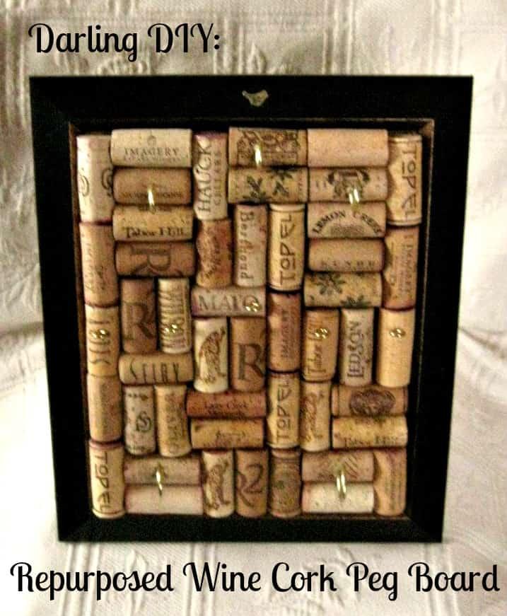 Darling DIY: Wine Cork Peg Board