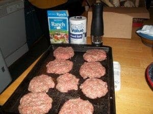 Pork Ranch Burgers