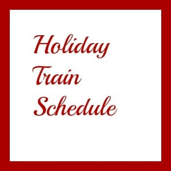 Holiday Train Schedule