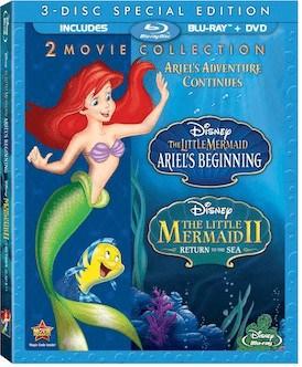 The Little Mermaid II & Ariel's Beginning on Blu-ray Combo Pack, 11/19