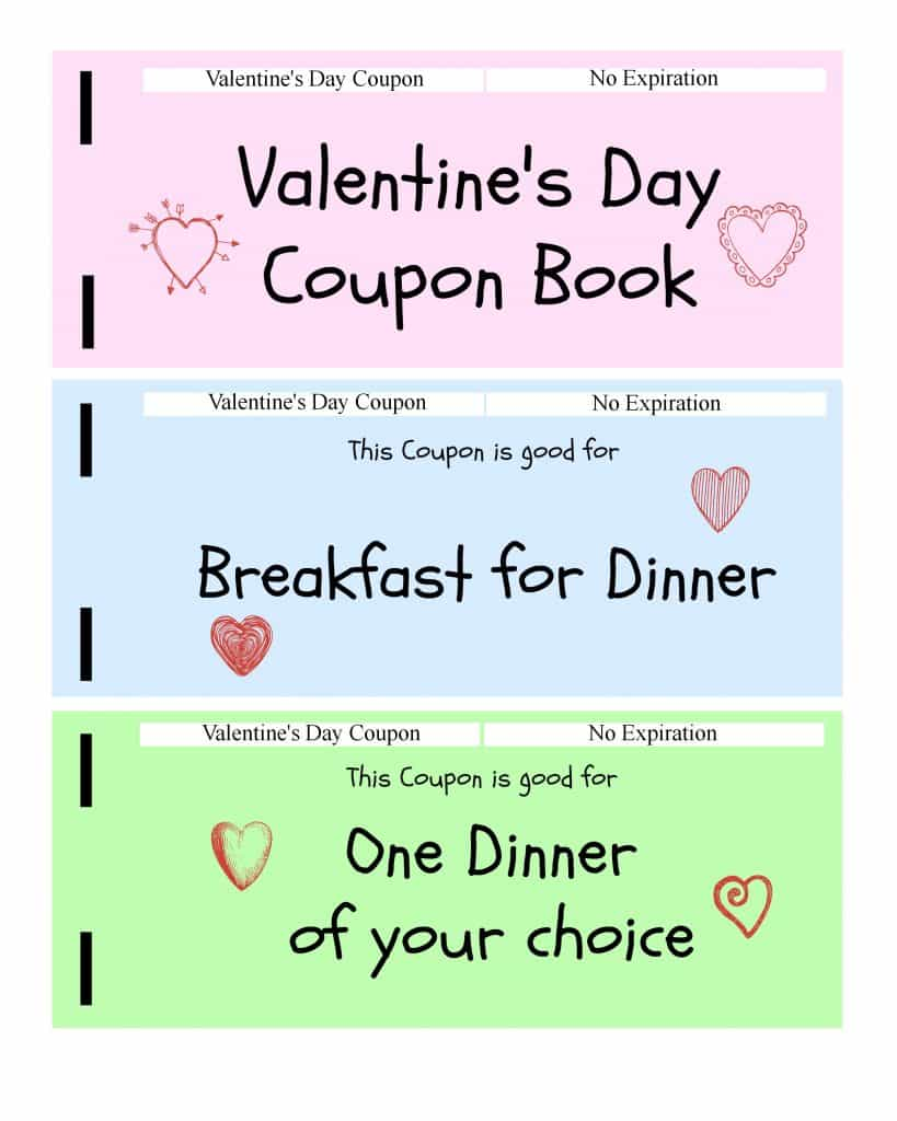 Kids Valentines Coupon Book