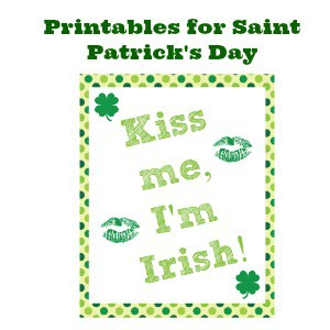Printables for Saint Patrick's Day