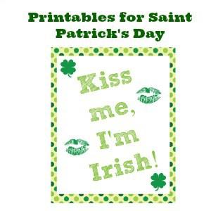 Printables for Saint Patrick's Day