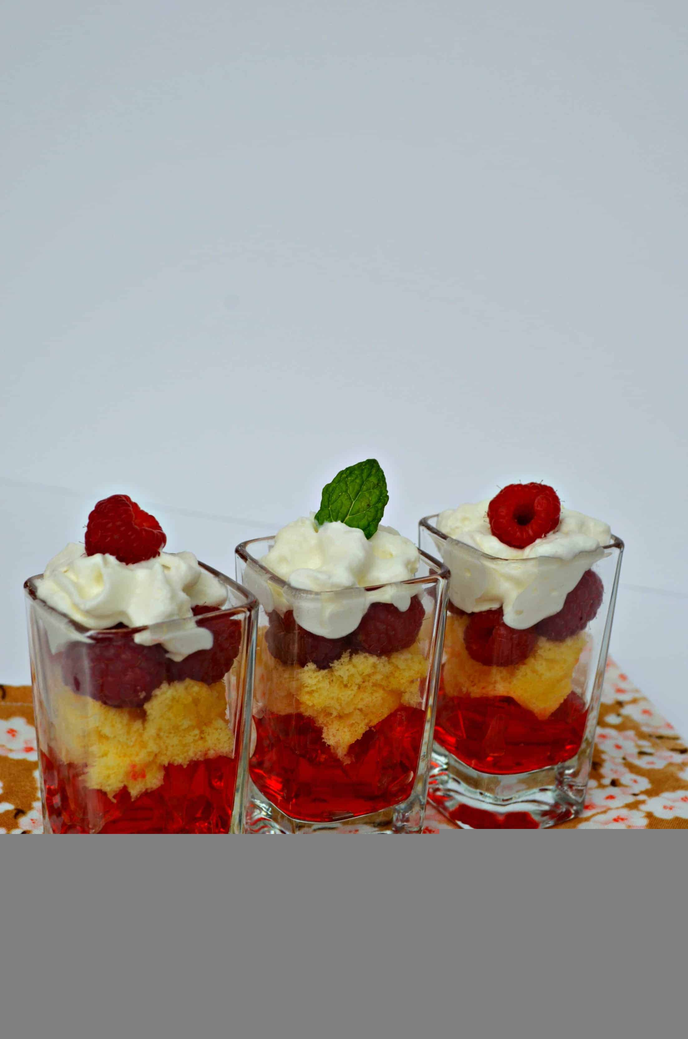 Raspberry Dessert Shooter Recipe for Valentine's Day
