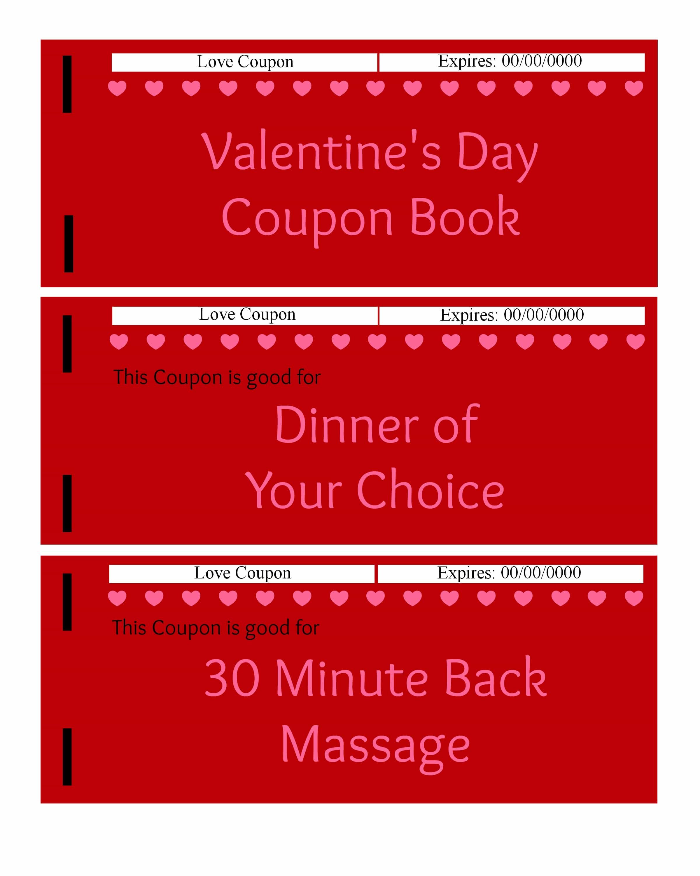 Red Coupon Book Print Sale