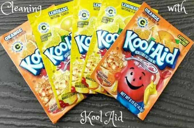Cleaning with Kool Aid