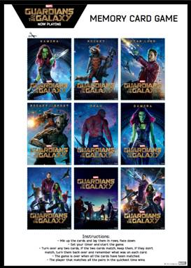 Guardians of the Galaxy Activity Sheets