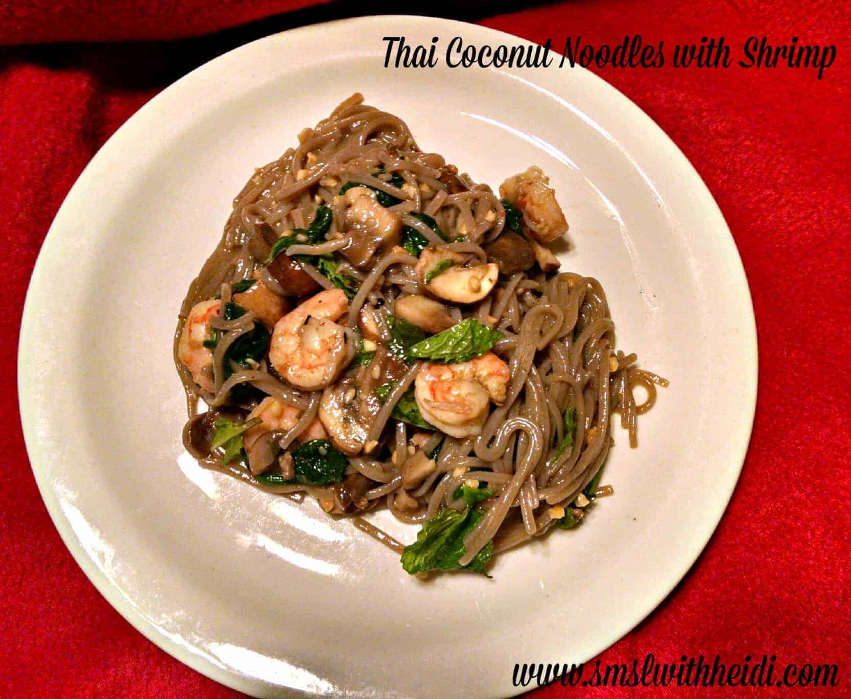 Thai Coconut Noodles with Shrimp