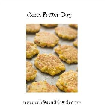 Corn Fritter Day