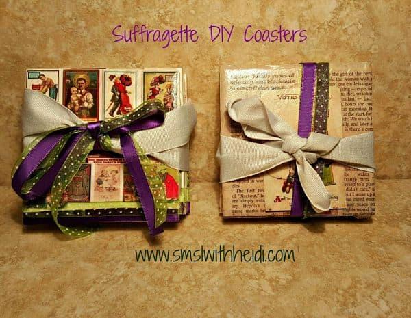 Suffragette DIY Coasters