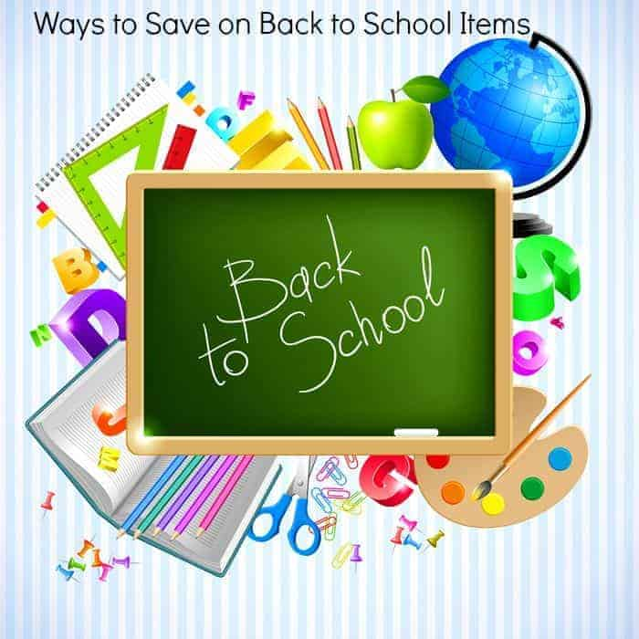 Ways to Save on Back to School Items