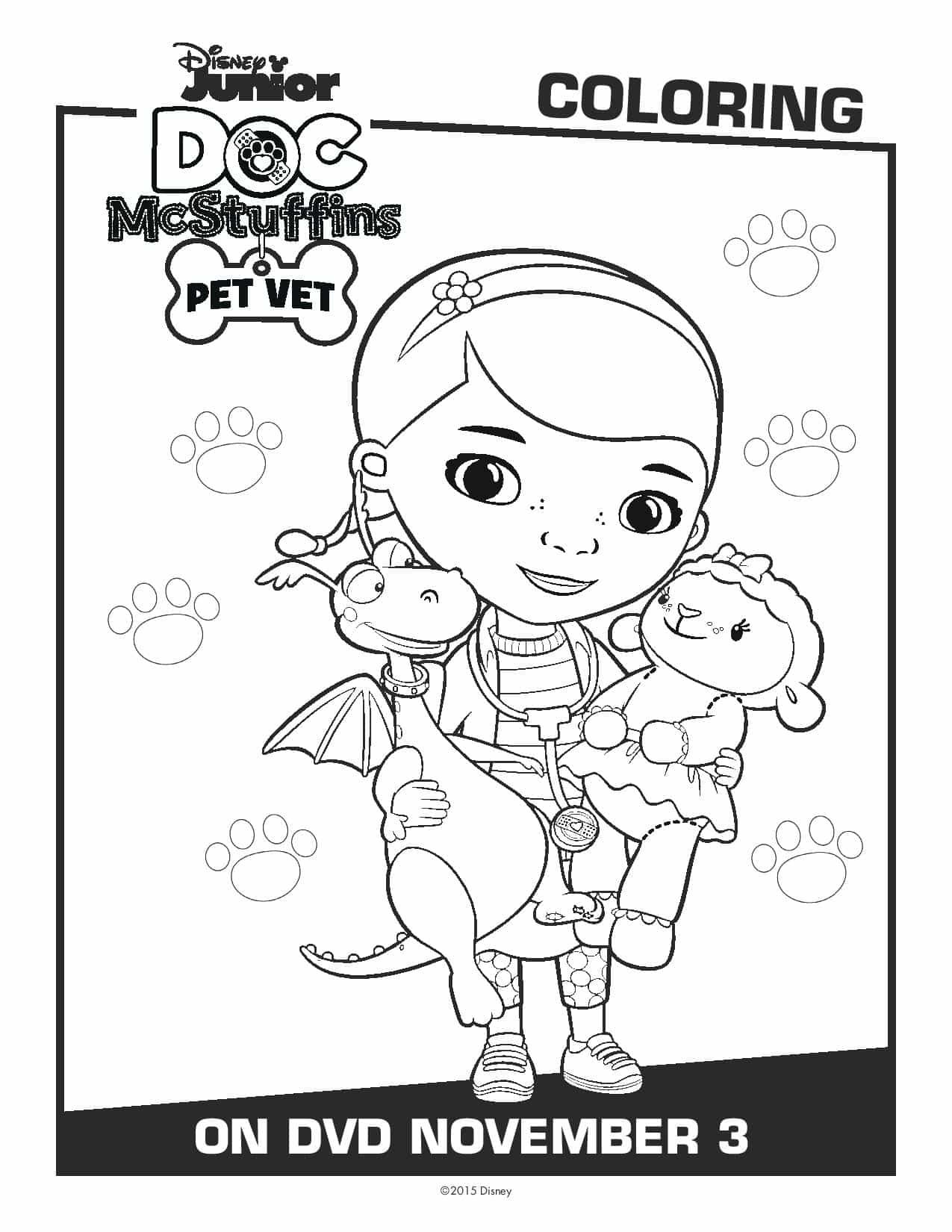 Doc McStuffins Coloring Sheets