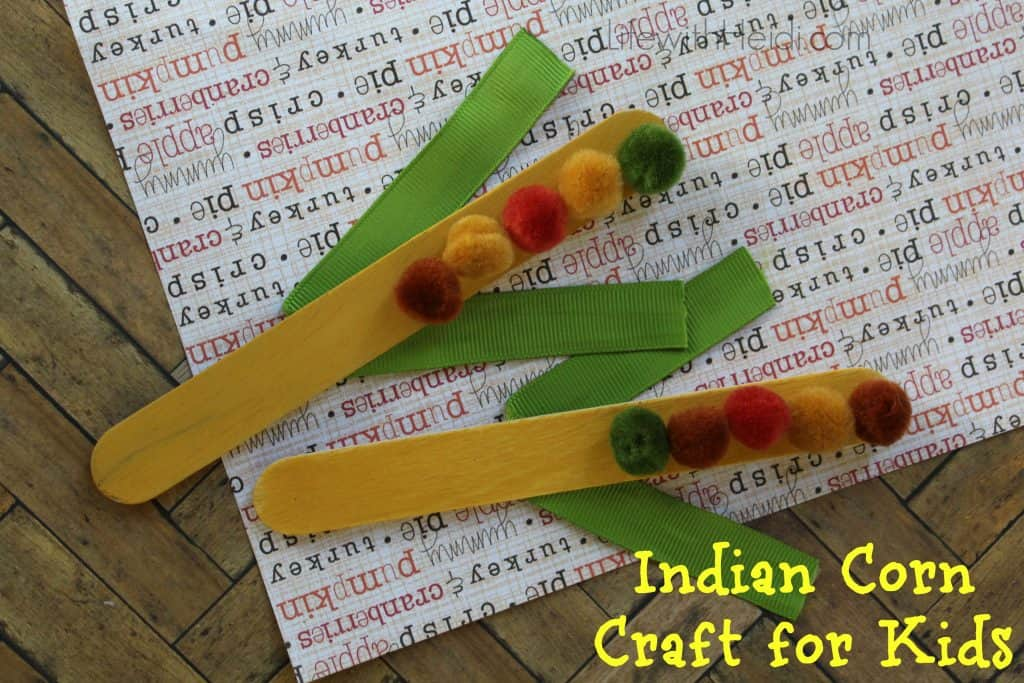 Indian Corn Craft for Kids