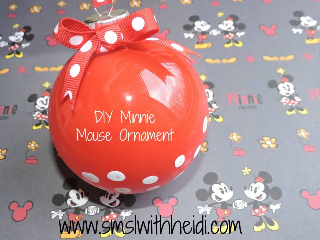 DIY Minnie Mouse Ornament