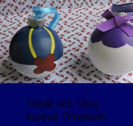 Donald and Daisy Inspired Ornaments