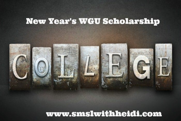 New Year's WGU Scholarship