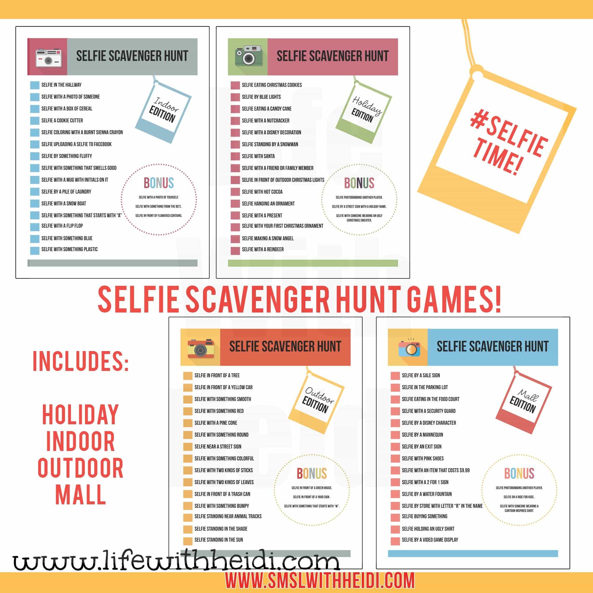 Selfie-Scavenger-Hunt-Ideas | Life with Heidi