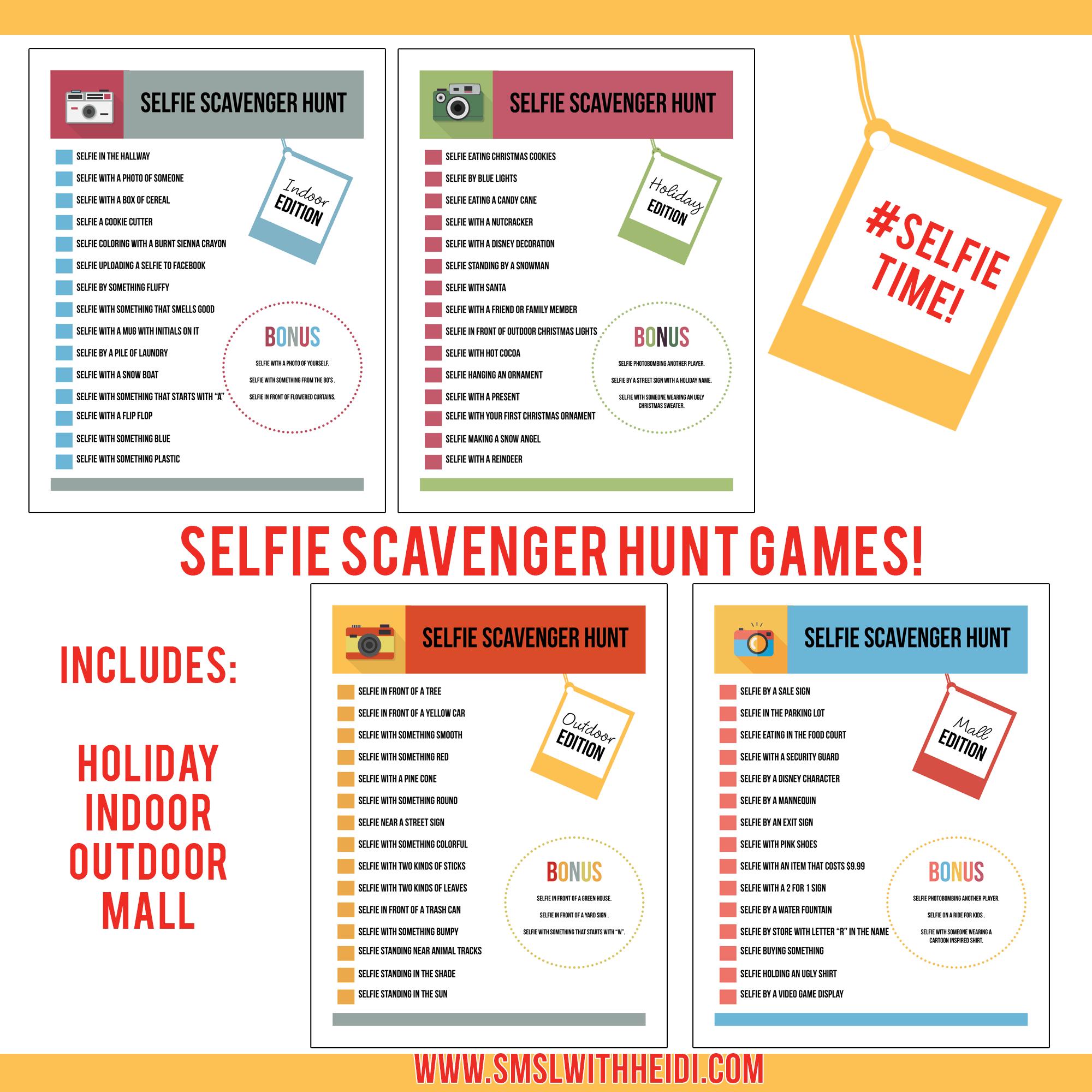 Selfie-scavenger-hunt