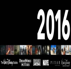Walt Disney Motion Pictures Line Up 2016