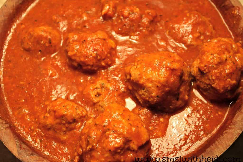 Stuffed Meatballs in Sauce