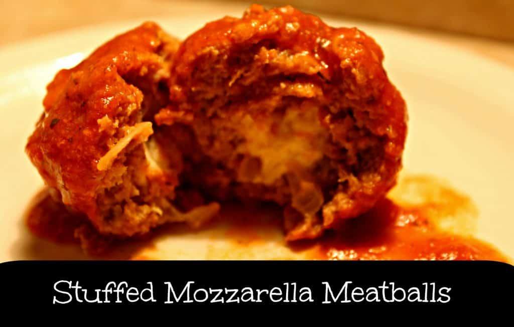Mozzarella Stuffed Meatballs | Life with Heidi