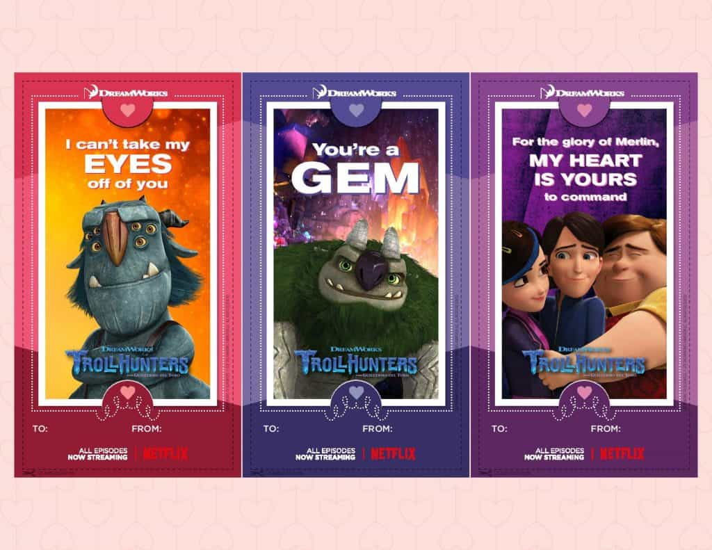 Dreamworks Animation Valentines Cardss