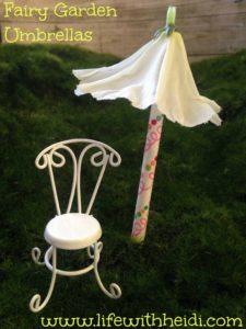 Fairy Garden Umbrellas