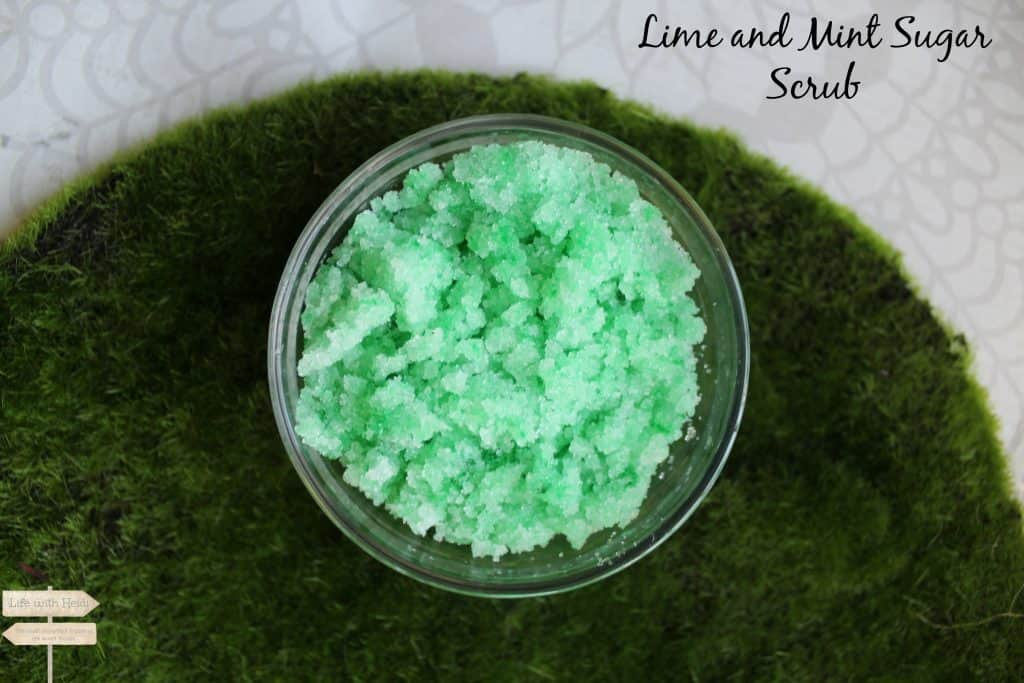 Lime and Mint Sugar Scrub