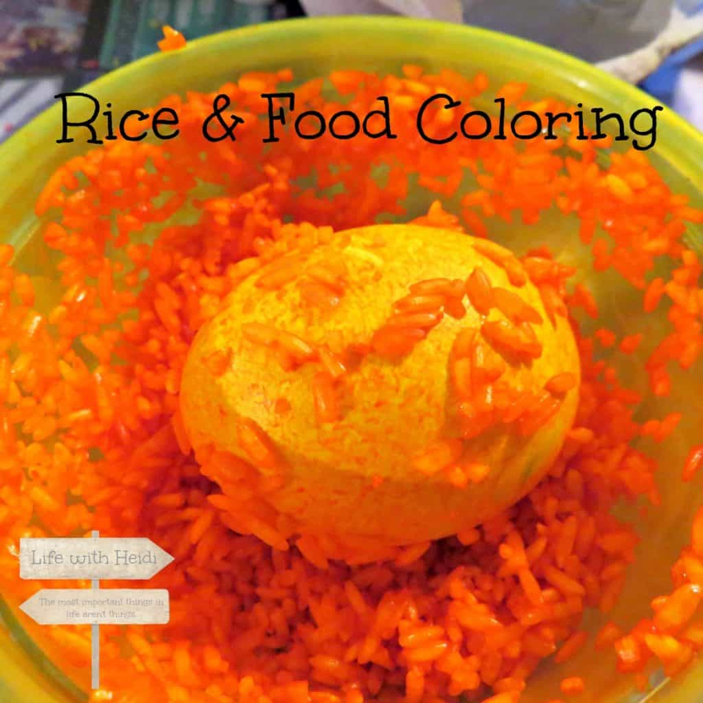 Rice and Food Coloring