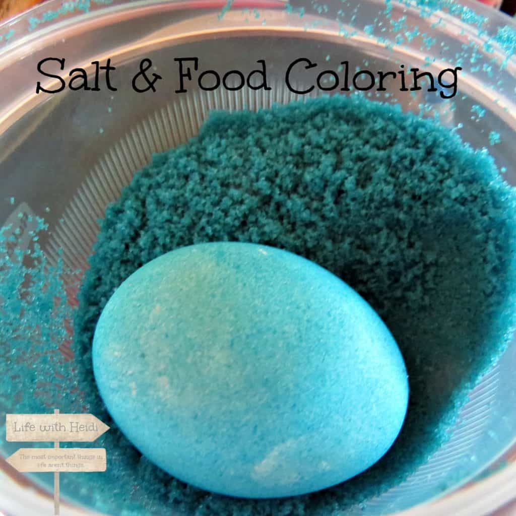 Salt and Food Coloring