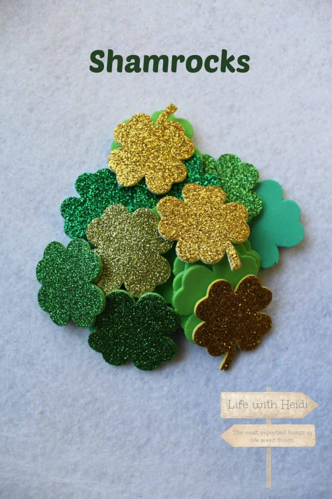 Shamrocks for wreath