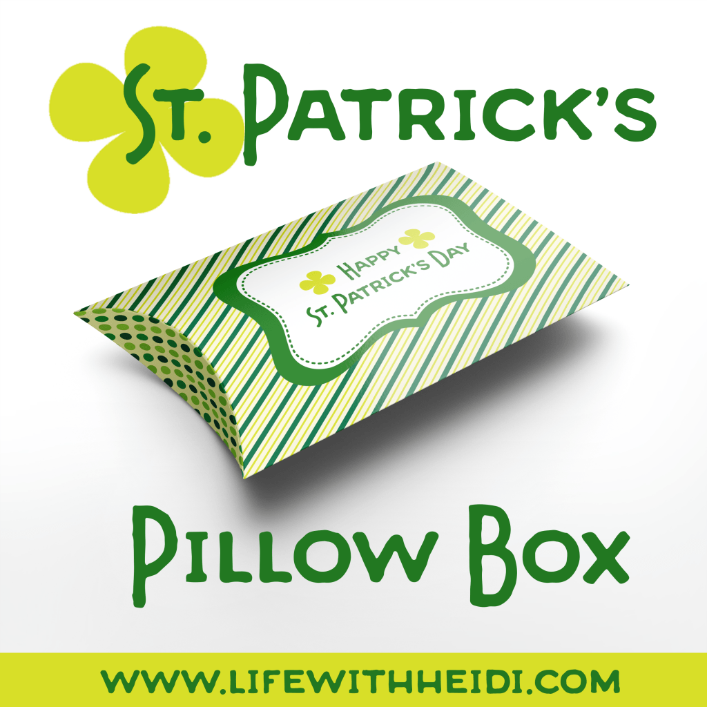 Saint Patricks Day Pillow Box