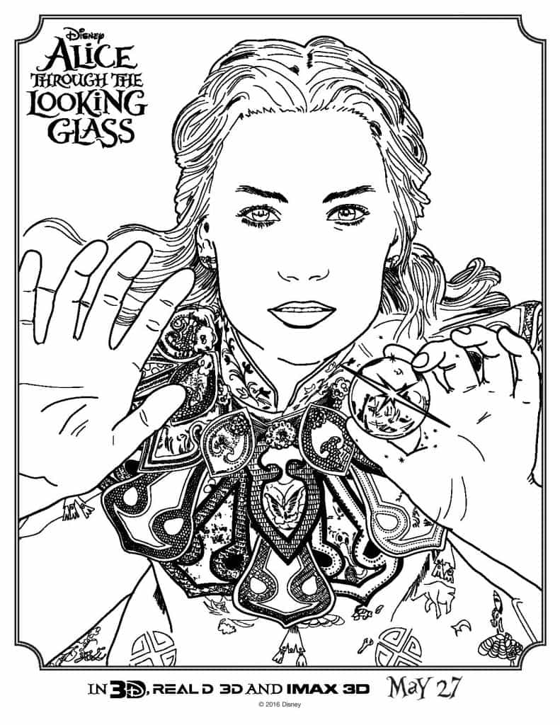 Coloring Pages from Alice Through The Looking Glass | Life ...