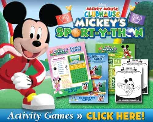 Mickey Mouse Activities