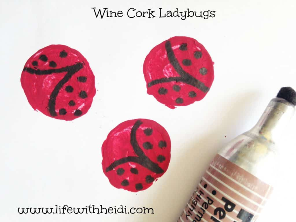 Wine Cork Ladybugs