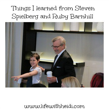 Things I learned from Steven Spielberg and Ruby Barnhill
