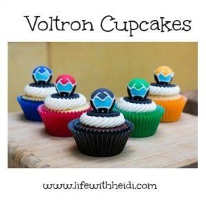 Voltron Cupcakes Tutorial