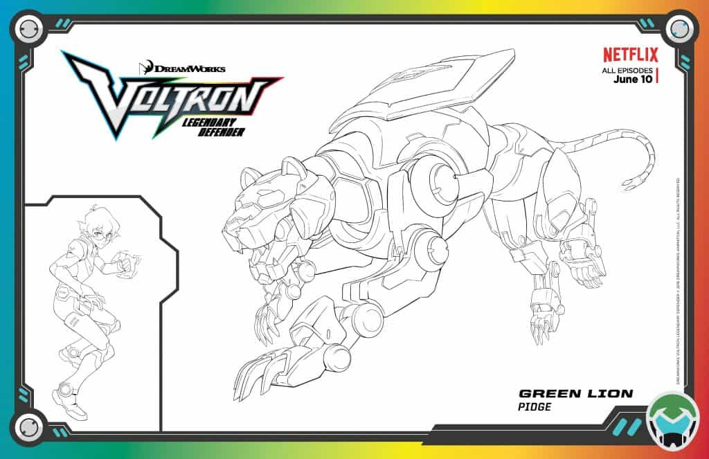 Voltron activity sheets life with heidi for Voltron coloring pages free