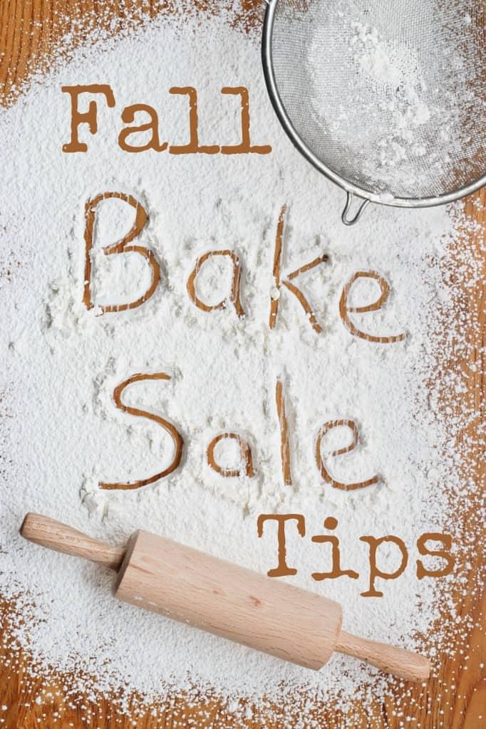 fall bake sale tips