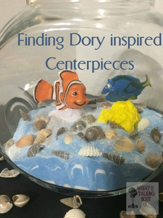 Finding Dory Inspired Centerpieces