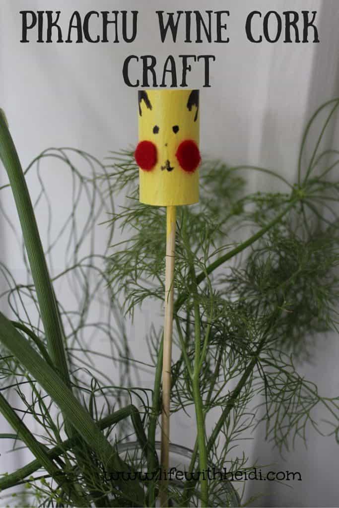 Pikachu Wine Cork Craft