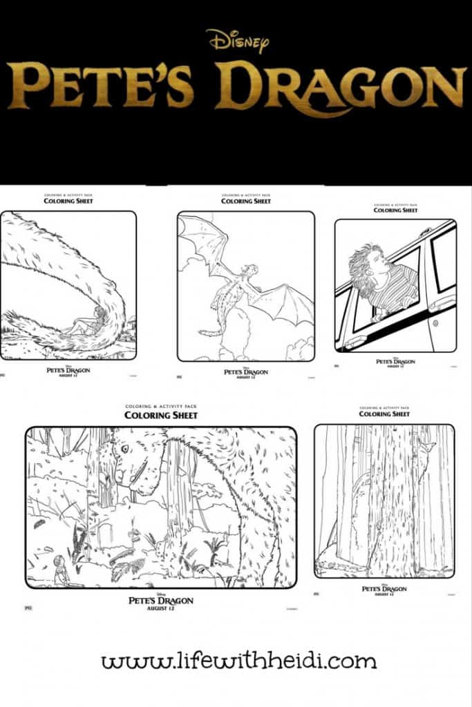 Coloring Sheets Pete's Dragon