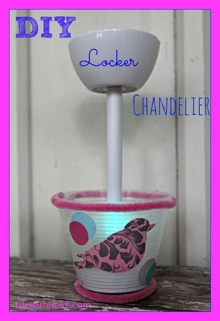 DIY Locker Chandelier