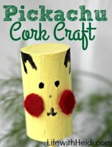 Pikachu Cork Craft