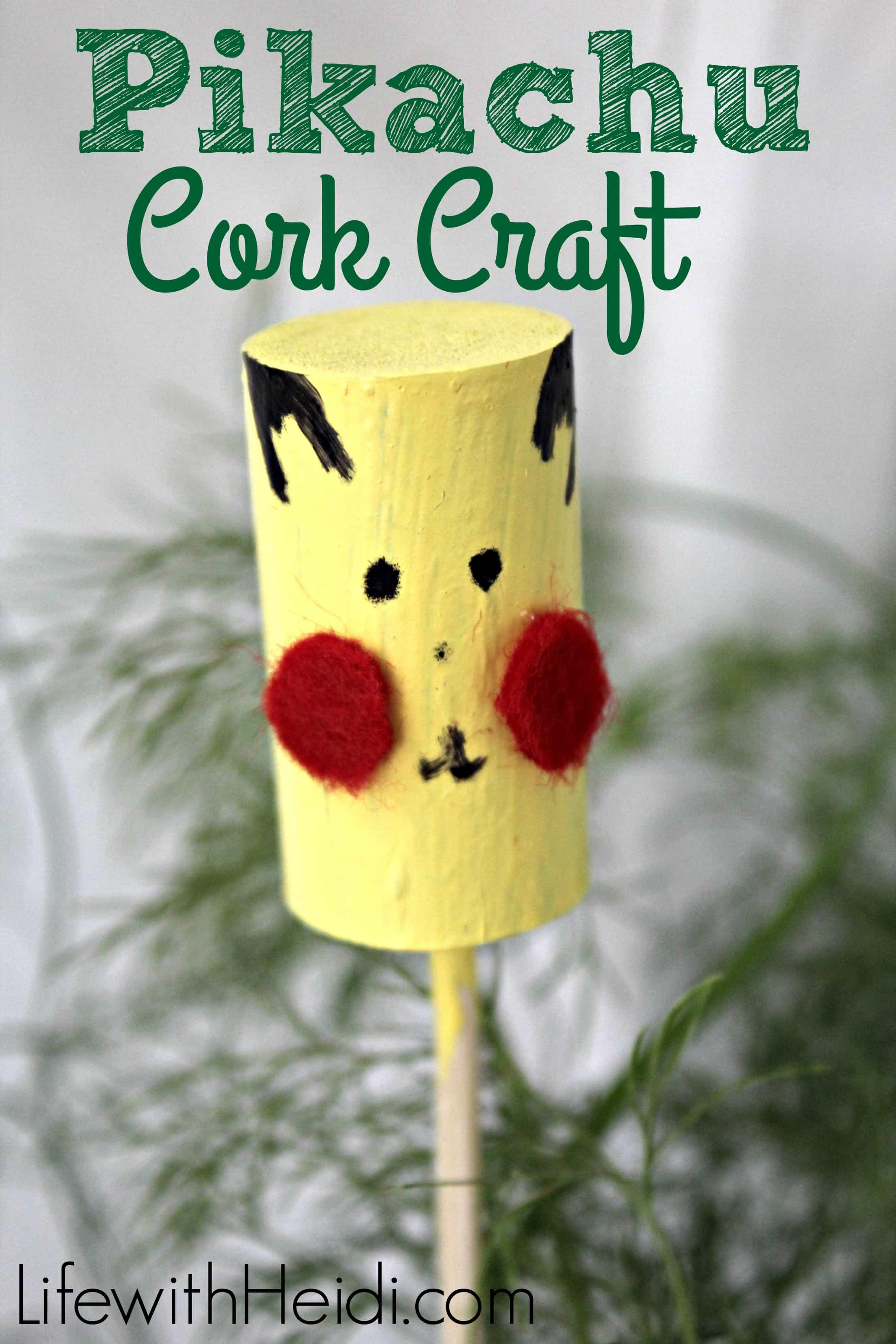 Pikachu Cork Craft
