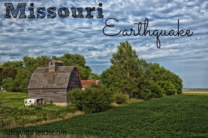 Missouri Earthquake September 3, 2016